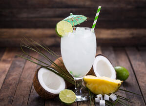 coconut and lime drink