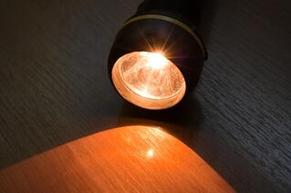 flashlight that is on