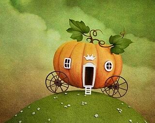 pumpkin carriage illustration