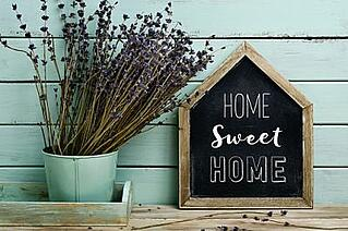 chalboard home sweet home sign