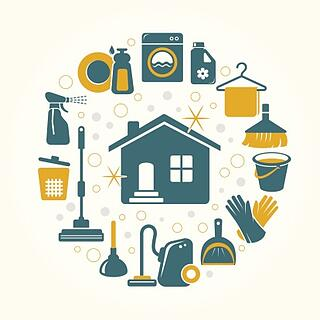 cleaning_icons_circling_a_house