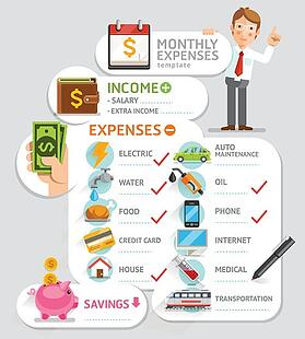 monthly expenses illustration