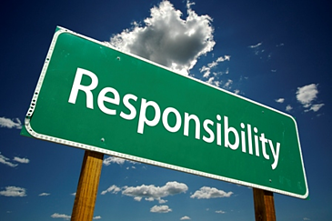 street sign that says responsibility