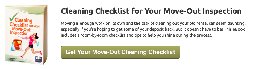 cleaning checklist for your move-out inspection