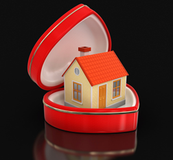 house in heart box