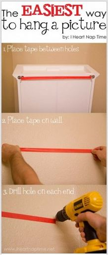 easy way to hang a picture resized 600